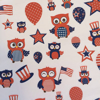 Fourth of July Owl Stickers-set of 39-for your Erin Condren Planner stickers, Plum Paper sticker, scrapbooking, calendar or paper planning