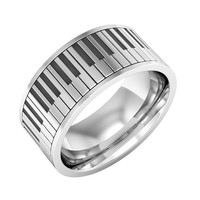 Piano ring Sterling silver Piano Band Ring Music Ring Instrument Piano Ring