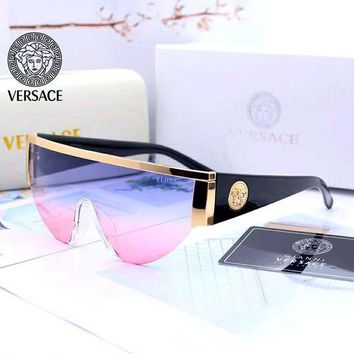 Blue VERSACE Fashion Aviator Sunglasses