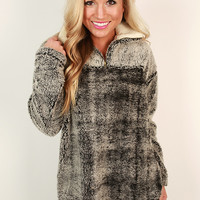 Ski Lodge Cuddles Sweater in Charcoal