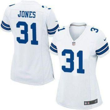 PEAP1N Women Nike Cowboys #31 Byron Jones White Stitched NFL Elite Jersey