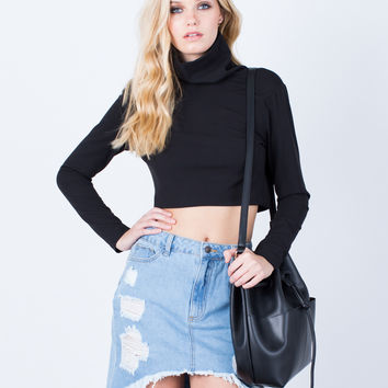 Nothing to Lose Plunging Crop Top
