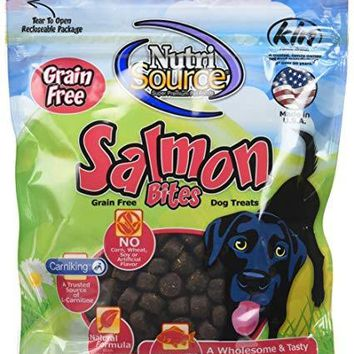 NutriSource Grain Free Salmon Bites Dog Treats 6 oz