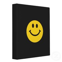 Yellow Smiley Face Binder from Zazzle.com