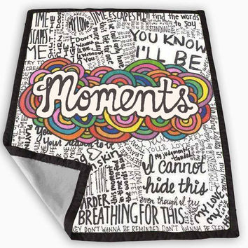 One Direction Moments Lyric Blanket for Kids Blanket, Fleece Blanket Cute and Awesome Blanket for your bedding, Blanket fleece **