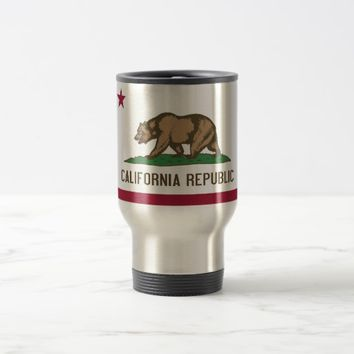 Travel Mug with Flag of California State - USA