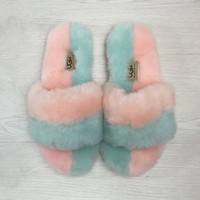"""UGG"" Wool Fur Slipper Shoes"