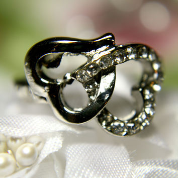 Linked Hearts Ring