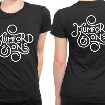 DCCKG72 Mumford And Sons Title Art Black And White 2 Sided Womens T Shirt