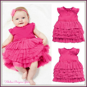 Cute Baby Girls Newborn Dress With Tutu