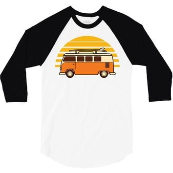 sunset van 3/4 Sleeve Shirt