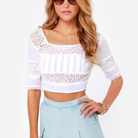 Billabong Sunset Faire White Crop Top