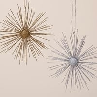 24 Christmas Ornaments - Gold And Silver Starburst