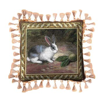 Fine Art Tapestries Home Decorative Lapin Cotton Pillow