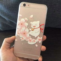Iphone 6/6s On Sale Hot Deal Cute Hot Sale Stylish Cats Lovely Iphone Phone Case [6034130817]