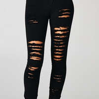 DISTRESSED BLACK JEANS - The Fashion Corporation