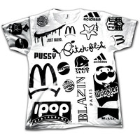 Too Many Logos Oversized Tee