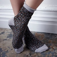 Free People Womens Channeling Dots Crew Sock