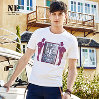 Summer Men's Fashion England Style Stylish Short Sleeve Strong Character Pattern T-shirts [7951250371]