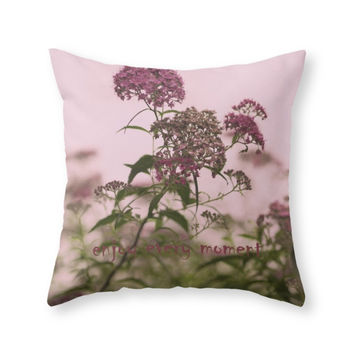 Society6 Enjoy Every Mome Throw Pillow