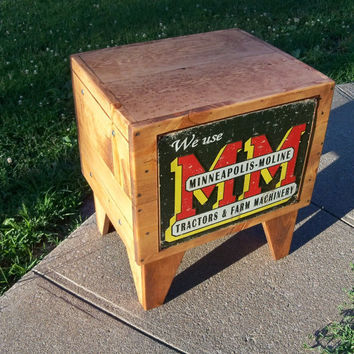 Shipping Crate TABLE M M Tractors Farm Machinery by MrsRekamepip