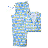 Audrey Long Sleeve Pajamas, Blue/Green, Pajamas