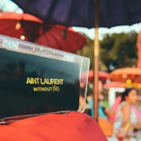 AINT LAURENT OVERSIZED Gold/Silver Personalised Perspex Clutch