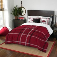 University of Arkansas Embroidered Comforter Set