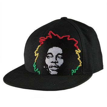 Bob Marley - Rasta Hair Fitted Baseball Cap