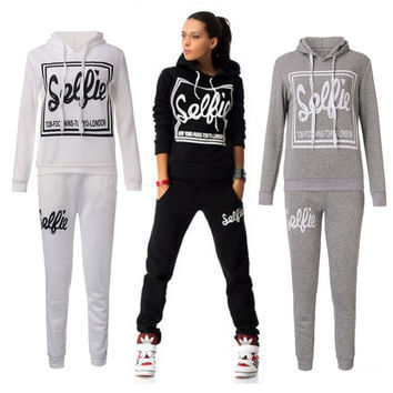 Women Sports Suit Casual Sweatshirt Track & Sweat Tracksuit Long Sleeve Hoodie Playsuits
