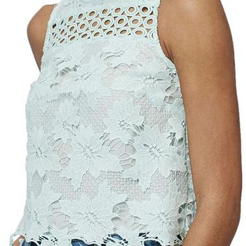 Topshop Floral Lace Shell Top | Nordstrom