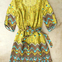 Hendrix Dress in Chartreuse [3340] - $37.00 : Vintage Inspired Clothing & Affordable Fall Frocks, deloom   Modern. Vintage. Crafted.