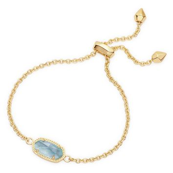 Kendra Scott Elaina Light Blue Illusion Gold Adjustable Bolo Bracelet