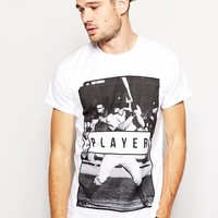 River Island | River Island T-Shirt With Player Print at ASOS