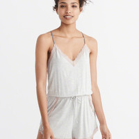 Womens Sleep Romper | Womens Lounge & Sleepwear | Abercrombie.com