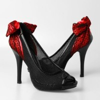 Iron Fist Meshed Up Lace Heels