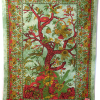 Twin Beautiful Tree of life tapestry, Throw Wall hanging, Indian tapestry, Tree of Life Tapestry, Picnic Tapestry, tree of life wall Hanging