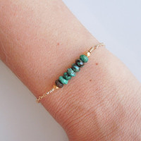Turquoise Bracelet in Gold
