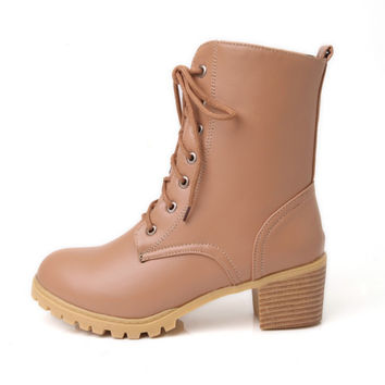 Womens Casual Fun High-Top Boots