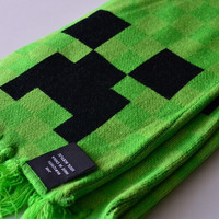 Minecraft Creeper Scarf Unisex Green Color 1PCS In Stock same day free shipping!!