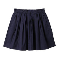 WOMEN COTTON GATHERED SKIRT