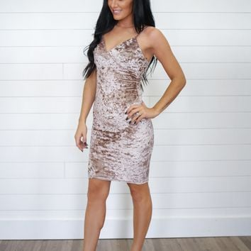 Holiday Hills Dress - Champagne