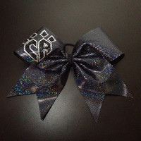 Black Holographic Bow w/bling logo