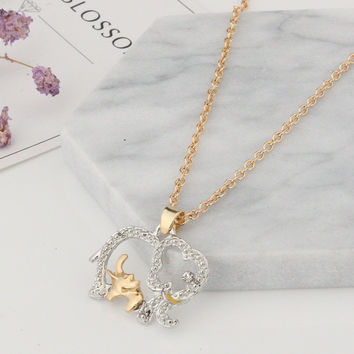 Best Gift for Mom Mothers Day Present Crystal Necklace Jewelry for Love Ones(Gift box) [9571278221]