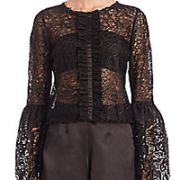 Alexis - Mark Lace Bell-Sleeve Top - Saks Fifth Avenue Mobile