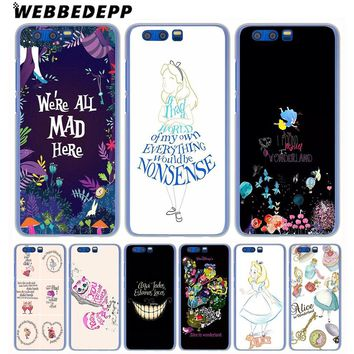 WEBBEDEPP Alice in Wonderland Anime Phone Case for Huawei Honor Play 9 8 Lite 10 9i 7X 6A 6C 7A Pro 2GB Note 10 Cover