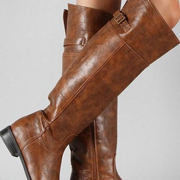 Tall Riding Boots - Tan