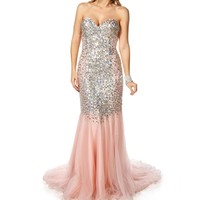 Pre-Order:Monique-Peach Prom Dress