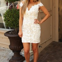 Marry That Girl Dress: White/Nude - Dresses - Hope's Boutique