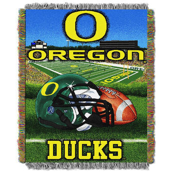 Oregon Ducks NCAA Woven Tapestry Throw (Home Field Advantage) (48x60)